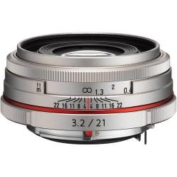 PENTAX 21mm F/3.2 DA HD AL Limited - ARGENTO - 2 Anni Di Garanzia