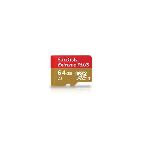 SANDISK EXTREME PLUS microSDHC 64GB UHS-I 80 MB/S