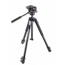 MANFROTTO 190 KIT - Treppiede 3 Sezioni - Testa Foto/Video fluida