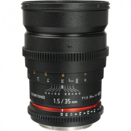 SAMYANG 35mm T1.5 AS IF UMC CINE VDSLR - Sony Innesto E - 2 Anni Di Garanzia