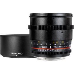 SAMYANG 85mm T1.5 VDSLR AS IF UMC Cine - Sony Innesto E - 2 Anni Di Garanzia