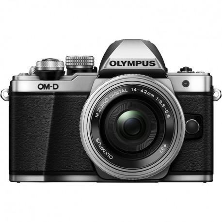 OLYMPUS OM-D E-M10 Mark II + 14-42mm F/3.5-5.6 ED EZ M.ZUIKO - ARGENTO - 2 Anni Di Garanzia