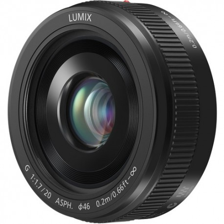 Panasonic Lumix G 20mm F/1.7 Asph. II - Nero - 2 Anni Di Garanzia