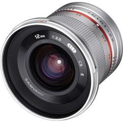 SAMYANG 12mm F/2.0 NCS CS - Micro 4/3 - ARGENTO - 2 Anni Di Garanzia