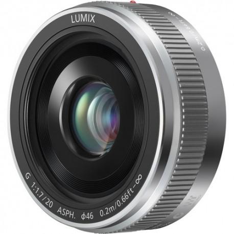 Panasonic Lumix G 20mm F/1.7 Asph. II - Argento - 4 ANNI DI GARANZIA