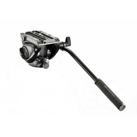 MANFROTTO MVH500AH - Testa video con base piatta 1 leva fissa