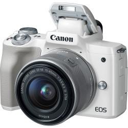 Canon EOS M50 + EF-M 15-45 IS STM - Bianca - 2 ANNI DI GARANZIA