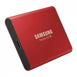 SAMSUNG Portable SSD T5 1TB - Rosso - 2 Anni di Garanzia in Italia